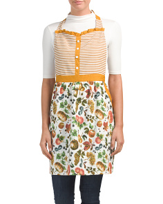 Sweetheart Ruffled Pumpkin Fruit Apron