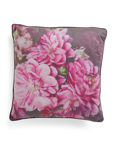 20x20 Velvet Floral Photo Pillow