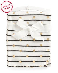 Kids Dot & Stripe Jersey Throw