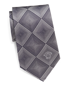Made In Italy Dizzy Squares Silk Tie