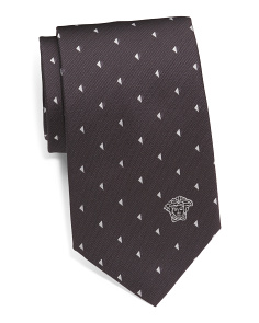 Made In Italy Pizza Print Silk Tie