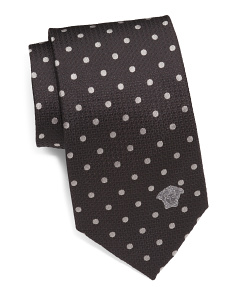 Made In Italy Dots Silk Tie