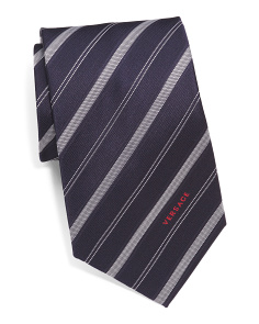 Made In Italy Stripes Silk Tie