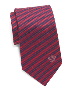 Made In Italy Silk Geo Squiggle Tie