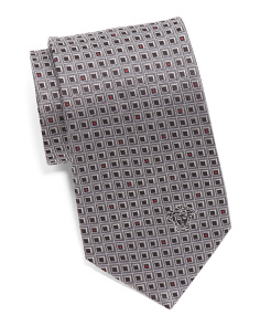 Made In Italy Silk Square Print Tie