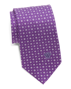 Made In Italy Silk Small Floral Tie