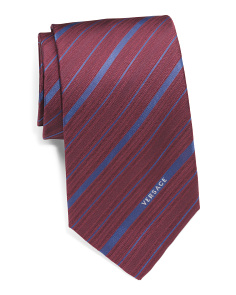Made In Italy Striped Silk Tie