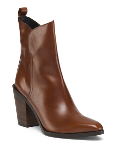 Made In Spain Leather Pointy Toe Booties