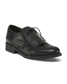Made In Italy Leather Oxfords