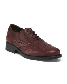 Made In Italy Wingtip Leather Oxfords