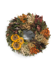 Dried Floral Sunflower Wreath