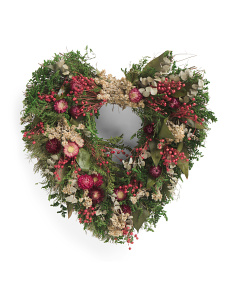 Blooming Garden Heart Wreath