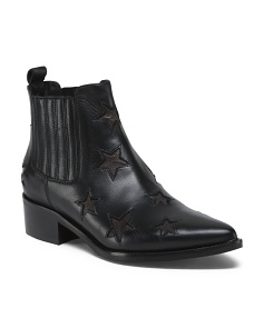 Made In Italy Chelsea Western Leather Booties