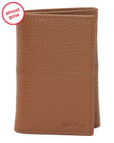 Pebbled Leather Trifold Wallet