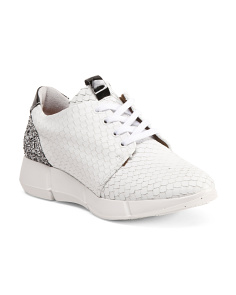 Made In Portugal Snake Leather Sneakers