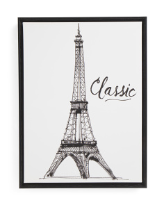 18x24 Eiffel Tower Framed Canvas Art