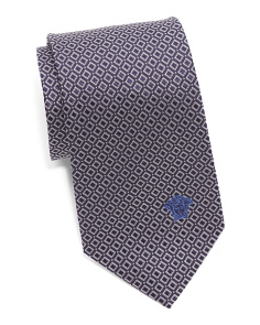 Made In Italy Silk Small Squares Tie