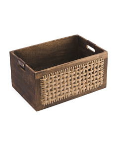 Medium Burnt Wood Storage Basket