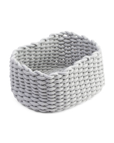 Medium Oval Woven Rope Basket