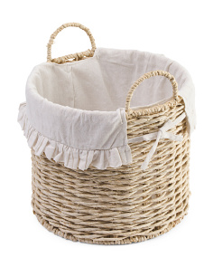 Small Round Reverse Weave Basket