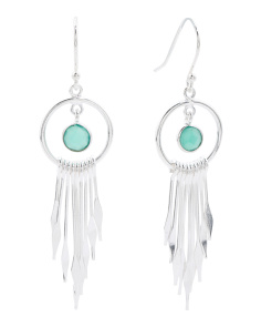 Made In India Sterling Silver Dreamcatcher Earrings