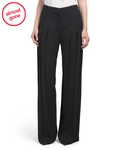 Made In Italy Pleated Wide Leg Trousers