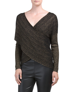 Wool Blend Cross Front Sweater