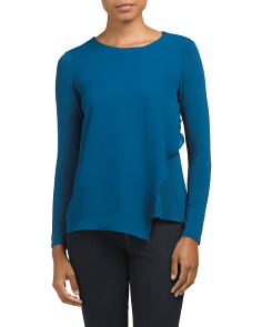 Petite Asymmetrical Knit Top
