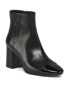 Made In Italy Cap Toe Leather Boots