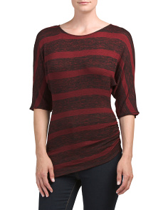 Petite Dolman Striped Sweater