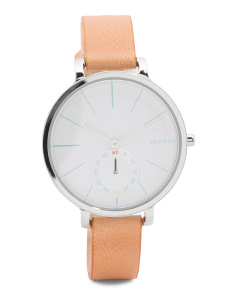 Women's Hagen Leather Strap Watch