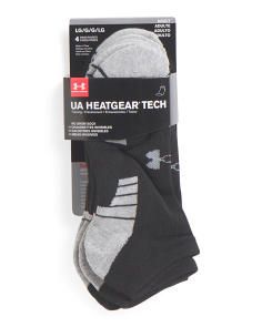4pk Heatgear No Show Socks