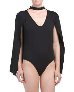 Made In USA Choker Caped Bodysuit