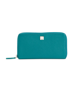 Alania Zip Around Leather Wallet