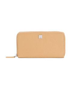 Alania Leather Zip Around Wallet