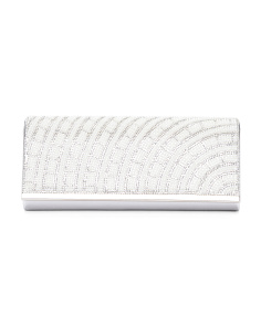 Rhinestone Stripe Clutch