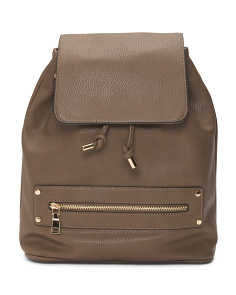 Pebbled Back Zip Backpack