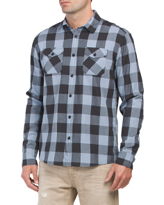 Bais Pocket Plaid Poplin Shirt
