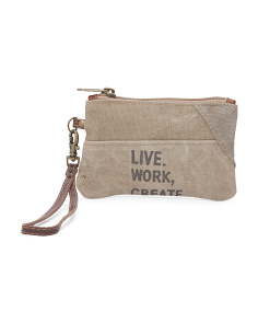 Up Cycled Small Live Work Create Pouch