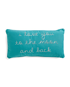 12x24 Love You To The Moon & Back Pillow