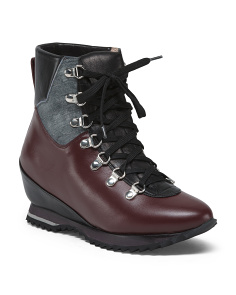 Made In Italy Leather Weather Hiker Booties