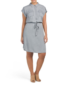 Plus Pastel Fade Shirt Dress