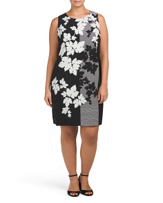 Plus Floral Screen Dress