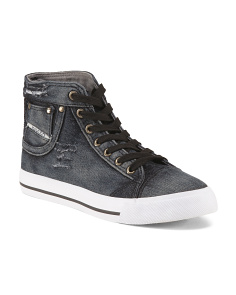 Denim High Top Sneakers