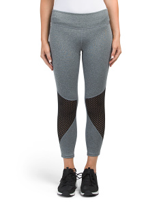 Capri Leggings With Mesh Insert