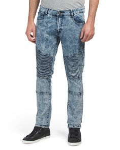 Moto Skinny Stretch Denim Jeans