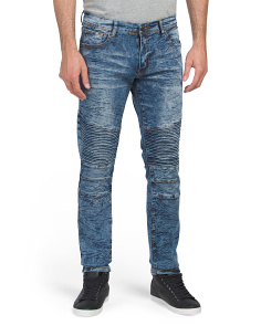 Moto Stretch Skinny Denim Jeans