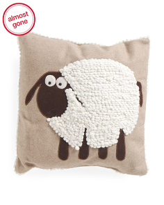 Kids 16x16 Textured Wool Sheep Pillow
