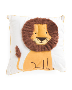 Kids Made In India 18x18 Lion Pillow