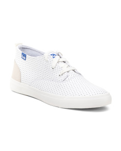 Perforated Leather Fashion Sneakers